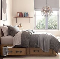 Wilkes Trunk Bed, 2 Drawer  - love the idea of storage under the bed - use the extra space for clothes out of season.