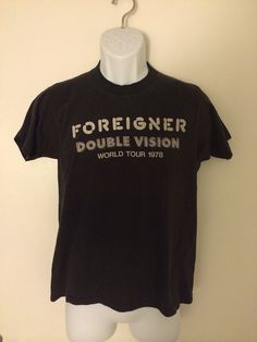 Vintage 1978 Foreigner DOUBLE VISION World Tour T-Shirt on Etsy, $89.99