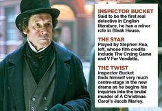 The 20-part murder mystery called Dickensian reimagines people, plots and places from the author's classics including Oliver Twist, A Christmas Carol, Bleak House and Great Expectations.