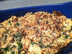 Cheesy Quinoa & Mushroom Bake.   The recipe looks really good -- so does the entire website.