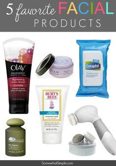 5 Favorite Facial Products - Somewhat Simple