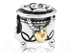 Pandora Silver and Gold Beads ~ Authentic Silver and Gold Pandora Charms ~ Gillett's Jewellers