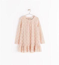 6833660598dc FRILLED DRESS WITH BUTTONS Zara Kids