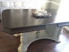 Dining table we stained with general finished java gel stain. Sealed it with the…
