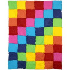 How to make a color rag quilt!