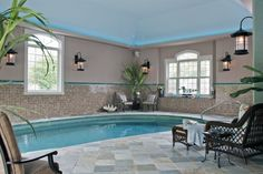 Cool House Indoor Pools majestic house indoor swimming pool with square shaped pool and
