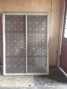 This coloured lead glass window frame is and available now. Lead Glass, Windows, Street, Antiques, Frame, Furniture, Color, Home Decor, Antiquities