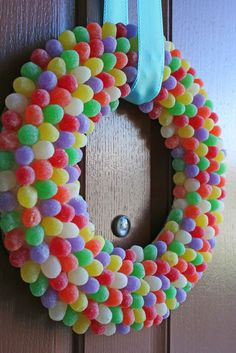 gum drop wreath  I have made one of these for several years at Christmas!!!!