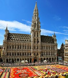 Brussels flower carpet, Belgium (photo by Saha Naresh)