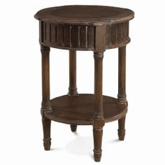 Covington Round Side Table with Drawer