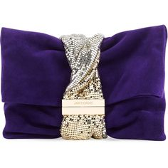 Jimmy Choo Chandra Small Crystal Clutch Bag ($1,625) ❤ liked on Polyvore featuring bags, handbags, clutches, purple, crystal purse, purple purse, magnetic purse, chain strap handbags and jimmy choo handbags