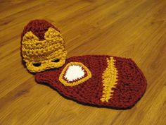 Crochet Cuddle Critter Cape Set - Iron Man - Photography Prop - Newborn - Made to Order on Etsy, $35.00