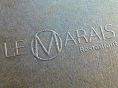 Restaurant Le-Marais - Badcass design & letterpress