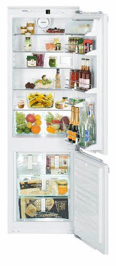 Narrow fridge for small space living.