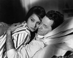 Sophia Loren and William Holden in The Key directed by Carol Reed, 1958
