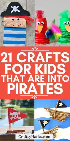 Pirate Activities, Sleepover Activities, Craft Activities For Kids, Preschool Crafts, Pirate Games, Crafts For Kids, Diy Crafts, Pirate Hat Crafts, Pirate Hats For Kids