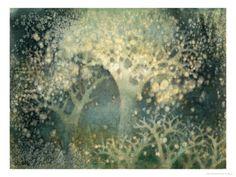 Beautiful Winter Giclee Print by Yunlan He at Art.com