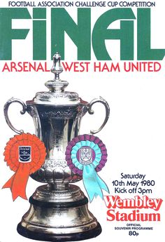 1980 FA Cup Final v West Ham, May 10, 1980 at Wembley. We came up short in our bid to win consecutive finals. I had watched Cardiff City almost beat us in the 3rd round in January at Ninian Park - my first ever Arsenal game. Gary Stephens missed a great chance in the last couple of minutes that would have put us out. One of life's funny quirks - this was Arsenal's first FA Cup game since the Wonderland final and it was in my hometown of Cardiff!