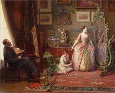Louis Galliac (1849 - 1934) - The artist's studio