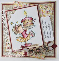 Anneke's hobbyblog: Cards & Scrap #178. Tekststempel.