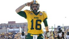 Brock Jensen is not projected to be taken in the 2014 NFL Draft, but someone is going to get a steal in him. Ndsu Bison Football, North Dakota, Nfl, College, Athletic, University, Athlete, Deporte, Nfl Football