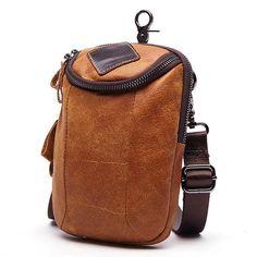Roselv Bum Bag Mens PU Leather Waist Packs Women Portable Chest Bags Mini Shoulder Bag Phone Money Purse Chain Strap