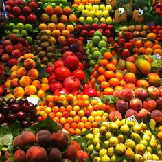 Fruit at the market in las ramblas