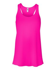 Bella 8800 Ladies 37 oz Flowy Racerback Tank Neon Pink XLarge -- You can get more details by clicking on the image. Discount Womens Clothing, Racerback Tank Top, Online Shopping Clothes, Fit Women, Neon, Clothes For Women, Tank Tops, Lady, Womens Fashion