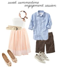 what to wear : sweet summertime engagement session. Love the hers outfit Engagement Photo Outfits, Engagement Session, Engagements, Engagement Photos, Engagement Ideas, Couple Outfits, Family Outfits, Couple Clothes, Quoi Porter