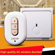 11.13$  Watch here - http://alindo.shopchina.info/go.php?t=32744298399 - High Quality  IP44 Waterproof Wireless Doorbell 280M Range with 48 Chimes Tone 6-Level Volume with 1 Push Button and 1 Receiver 11.13$ #magazineonlinebeautiful