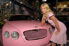 Is Pink a Feminine Color | Paris Hilton in Pink Cars and Color Feminine Colors For Women Cars