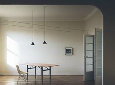 Lampada a sospensione a LED STRING LIGHT - TESTA A CONO by FLOS design Michael Anastassiades