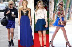 Синий низ - стильный верх, или с чем носить синюю юбку?