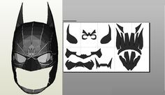 Papercraft .pdo file template for Batman Arkham Origins mask.