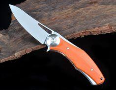 shirogorov Dark V titan G10 mit d2 klinge kugellager klappmesser camping knife | eBay