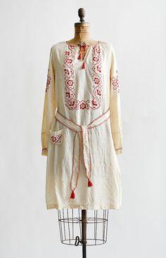 vintage 1920s ukrainian silk flapper dress - Vintage and Feminine Modern Clothing Boutique