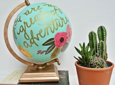 So after eyeing this gorgeous globe for over a year I finally decided to create my own version! I have seen a few DIY options for some of the 1canoe2 globes but most of them were of the stars globe (which is perfect for a nursery!) or were not the look I was going for. Plus, unfortunately you can no longer buy these globes at Anthropologie so I set to make my own.  Whenever I do anything with florals I immediately think of Rifle Paper Co. I seriously cannot get over how gorgeous their stuff…