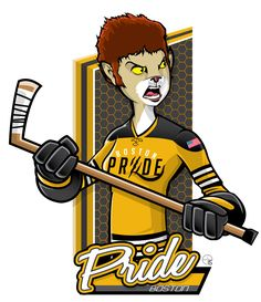 This season, our good friend Eric Poole has expanded his repertoire to include the new National Women's Hockey League teams. This is the Boston Pride. Hockey Logos, Hockey Quotes, Women's Hockey, Nhl Logos, Sports Team Logos, Hockey Girls, Hershey Bears, Hockey Season, Ice Girls