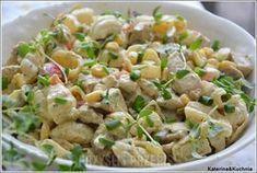 Makaronowa sałatka z kurczakiem curry i ananasem Macaroni Salad, Pasta Salad, Poultry, Potato Salad, Food And Drink, Lunch, Cooking, Healthy, Ethnic Recipes