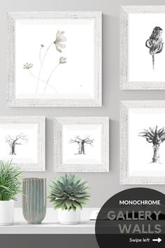 Four different layout ideas for hanging your pictures. Loving these artworks? Browse my Etsy store for a selection of printable fine art.  #ideas #layout #livingroom #bedroom #ideaslivingroom #eclectic #art #boho #staircase #stairway #blackandwhite #abovecouch #small #ideasbedroom #blackframes #diningroom #hallway #DIY #etsy Wall Art Decor, Wall Art Prints, Grey Wall Art, Childrens Wall Art, Insect Art, Plant Drawing, Hanging Pictures, African Art, Printable Art