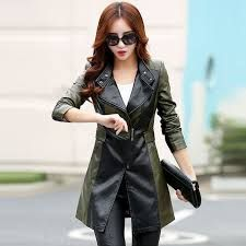 online shopping for Bigidols Plus Size Leather Jacket Women Slim Pu Leather Coat Long Jacket from top store. See new offer for Bigidols Plus Size Leather Jacket Women Slim Pu Leather Coat Long Jacket Leather Trench Coat, Denim Coat, Leather Jackets, Pu Leather, Blazers For Women, Coats For Women, Winter Jackets Women, Long Jackets, Clothes