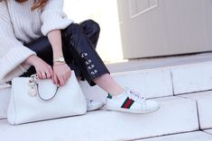 Gucci shoes x Vinyle pants