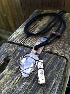 Clear Quartz Point Clarity Charm Necklace by ArtCraftandNature, $10.00