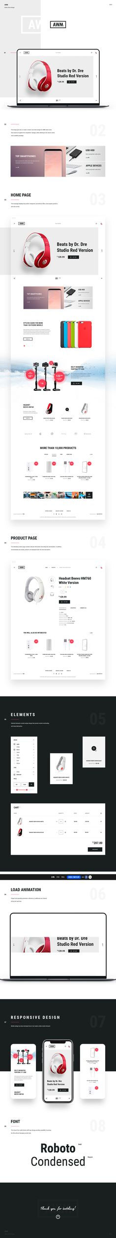 Web design for AWM online store
