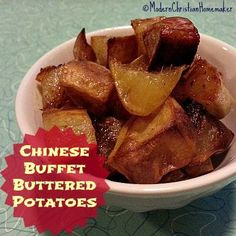 Buttered Potatoes on a Chinese buffet can't be that great, right? WRONG! This recipe is simple and recreates the crispy buttery bites from your fave buffet!