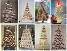 My favorite wall-trees: I want to try one this Christmas!