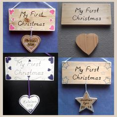 Personalised Baby First Christmas Plaque