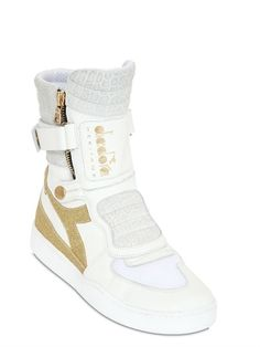 MILANO BIKER LEATHER HIGH TOP SNEAKERS