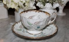 Aynsley English Bone China lovely cup and saucer set, for rent from southernvintagegeorgia.com