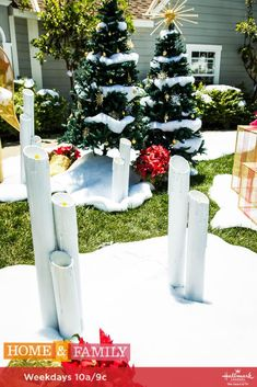 DIY Lawn Luminaries will light up your lawn in the best way! For more Christmas DIYs, tune in to Home & Family weekdays at 10a/9c on Hallmark Channel